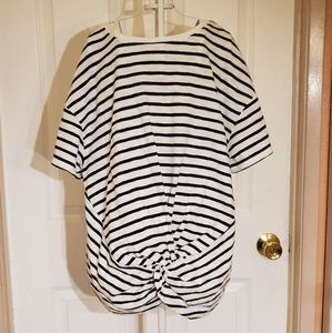 A New Day Striped T Shirt Sz Med NWT
